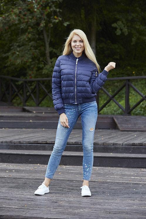 Укороченная куртка-бомбер Scanndi finlandCW2950 (темно-синий)