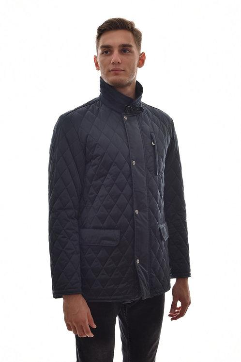 Мужская весенняя хлопковая куртка, бомбер Scanndi Finland CM29047 (темно синий)