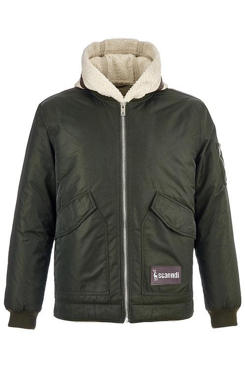 """Мужская зимняя куртка оливкового цвета """"два-в-одном""""Scanndi finland DM19057 (модель 2019 года)"""