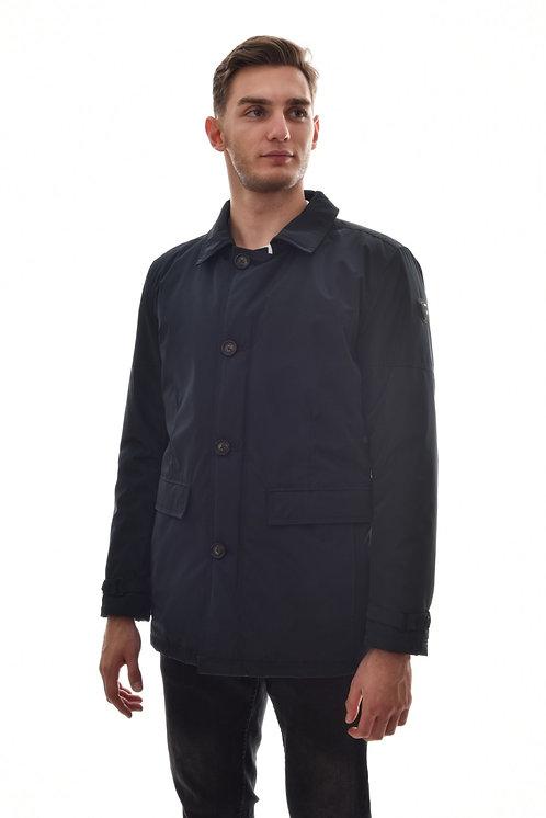 Хлопковая мужская весенняя куртка, бомбер Scanndi Finland CM29049 (черный)