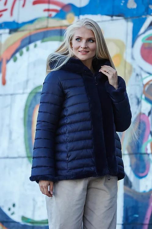 Двухсторонняя зимняя куртка Scanndi finland DW19068 (темно-синий)