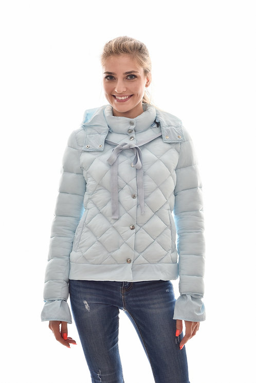Женская весенняя хлопковая куртка, бомбер Scanndi Finland CW2944 (голубой)