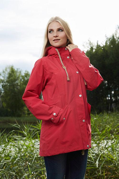 Женская осенняя финская парка Scanndi finland BW2812 (красный)