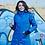 Женская зимняя укороченная куртка Scanndi finland DW19032b (синий)