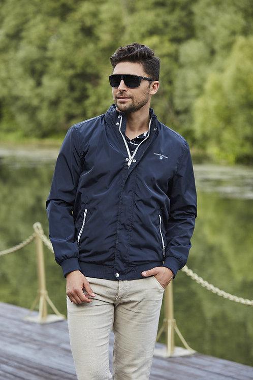 Мужская весенняя хлопковая куртка, бомбер Scanndi Finland BM29061 (темно-синий)