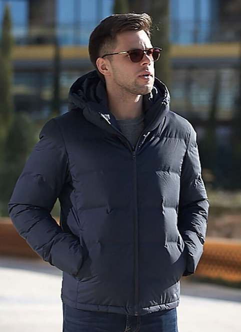 Мужская суперлегкая куртка,пуховик Scanndi finland DM19081a (Темно синий)