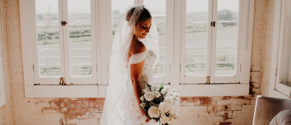 Sunroom Bridal Portrait