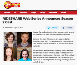RIDESHARE Web Series Announces