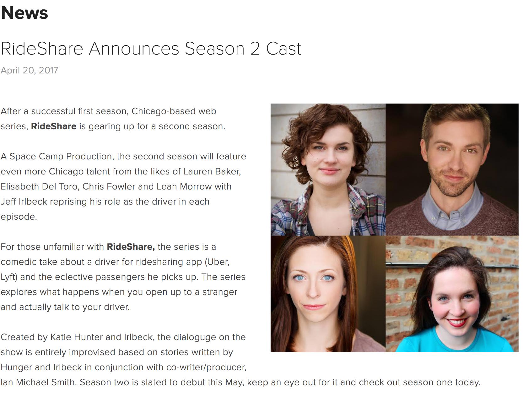 RideShare Season 2 Cast Announced