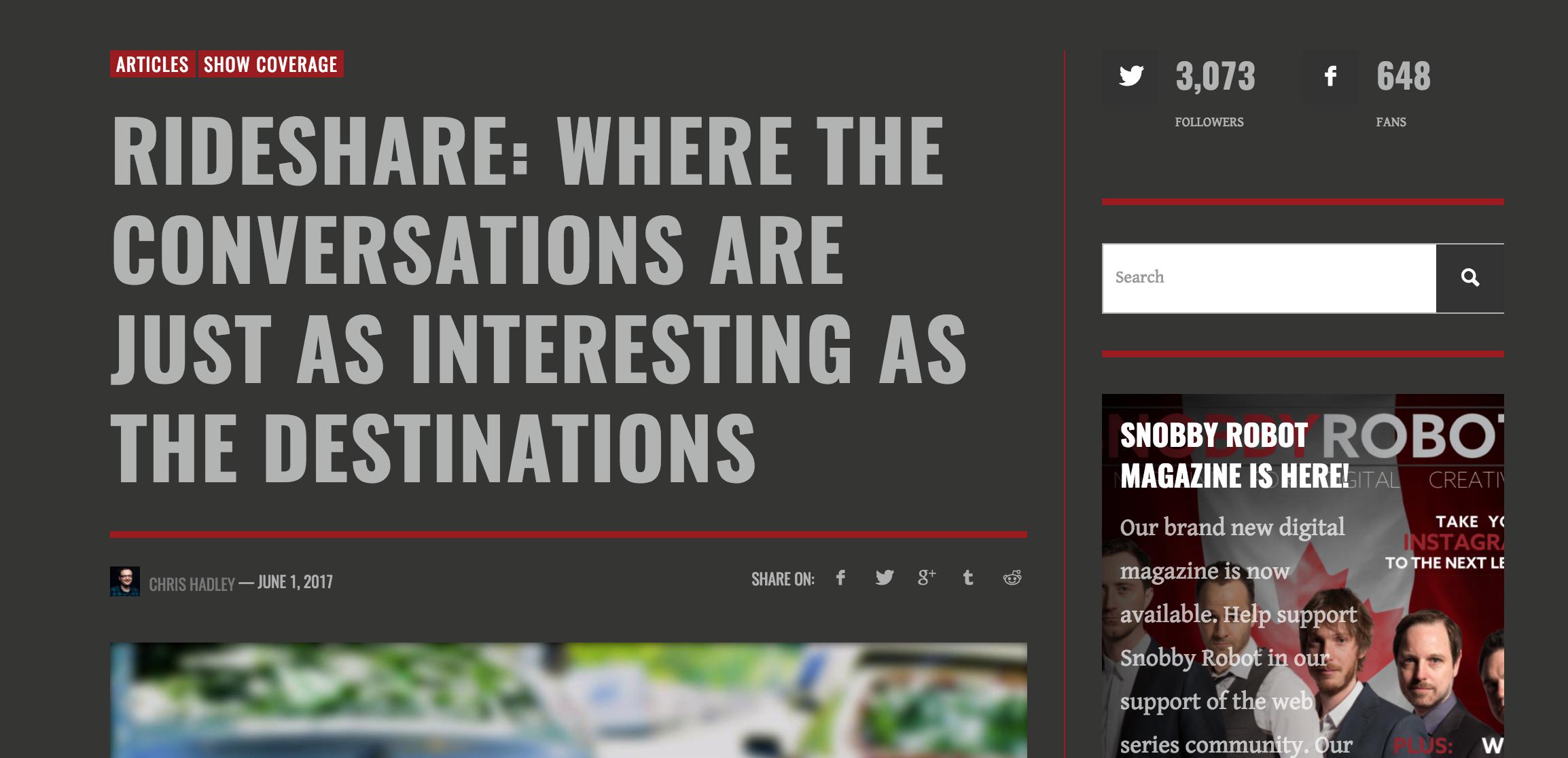 RideShare: Where The Conversations..