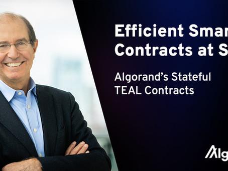 大規模で効率的なスマートコントラクト:アルゴランドのステートフルTEALコントラクト  by シルビオ・ミカリ