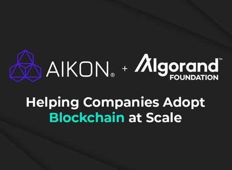 AIKONとアルゴランド財団はチームを組み、企業が大規模なブロックチェーンを採用できるよう支援していきます