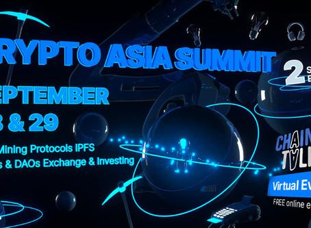 2020年9月28~29日、ChainTalkオンラインイベント「Crypto Asia Summit」