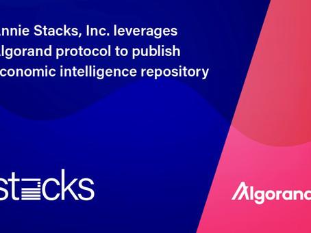 アニー・スタックス(Annie Stacks, Inc.)、アルゴランド財団からの支援を確保
