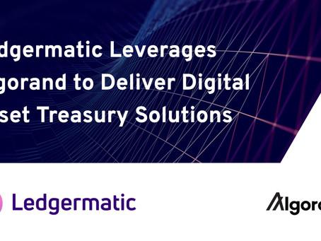 レジャーマティック(Ledgermatic)、アルゴランド・ブロックチェーンを活用して、デジタル資産管理ソリューションを企業に提供