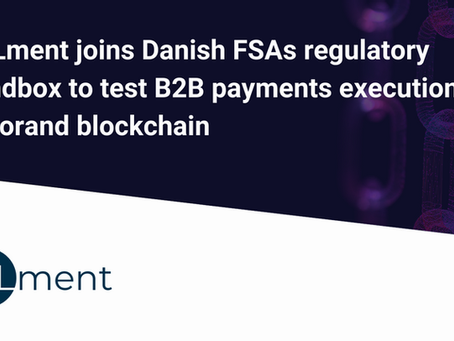 ZTLment、デンマーク金融庁の規制サンドボックスに参加し、アルゴランド・ブロックチェーン上でのB2B決済実行をテスト