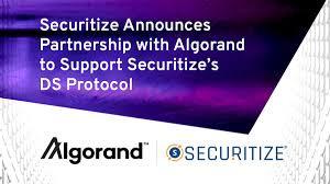 セキュリタイズ(Securitize)がアルゴランド(Algorand)とのパートナーシップを発表、SecuritizeのDSプロトコルをサポート