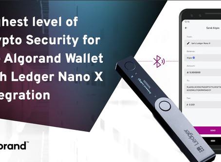 アルゴランド・ウォレットが、Ledger Nano Xとの統合によりさらに安全に!