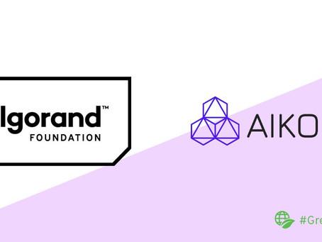 アルゴランドとAIKONの助成金パートナーシップのアップデート
