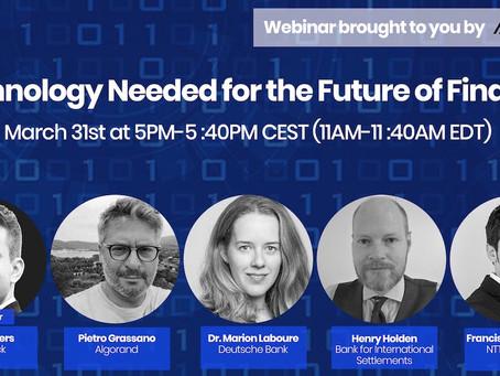 ウェビナー:金融の未来に必要なテクノロジー
