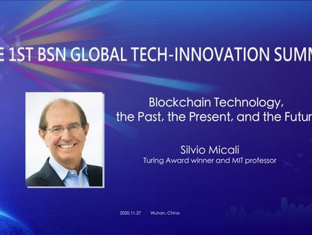 「ブロックチェーン技術 - 過去・現在・未来」 by シルビオ・ミカリ  at 第一回BSNグローバル技術革新サミット