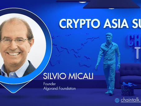 アルゴランド創設者シルビオ・ミカリがCrypto Asia Summitに登場