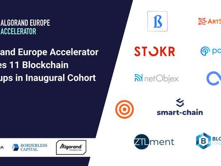 アルゴランド・ヨーロッパ・アクセラレータ、11社のブロックチェーン・スタートアップを立ち上げグループに選出