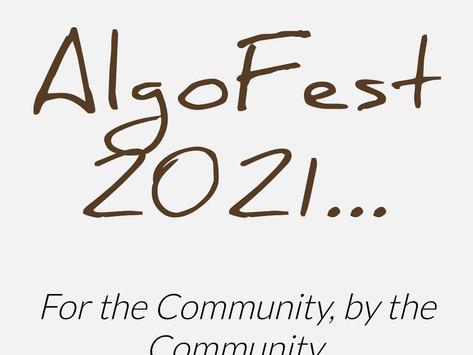 コミュニティ・イベント「AlgoFest 2021」9月1〜2日開催!
