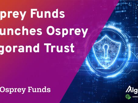 Osprey Funds、初のアルゴランド投資商品を市場に投入