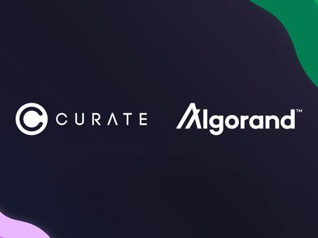 DeFiショッピング・アプリ「Curate」がALGO決済とアルゴランド上でのNFT作成機能を統合
