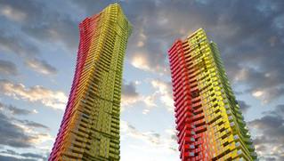 400メートルのコンテナ高層住宅