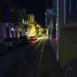 スリーマの夜道