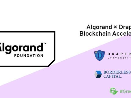 ドレイパー大学、アルゴランド財団、ボーダレス・キャピタルがブロックチェーン・アクセラレーター・プログラムを開始
