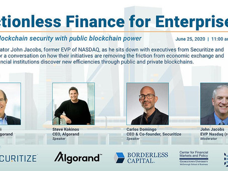 6月25日(木)深夜12時~(日本時間)、セキュリタイズ x アルゴランド 「Frictionless Finance for Enterprise - 企業向けの摩擦のない金融」ウェビナー