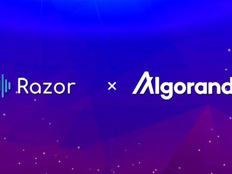 Razor Network、アルゴランド・ブロックチェーン・アプリケーションに信頼性と安全性の高い実世界データを提供