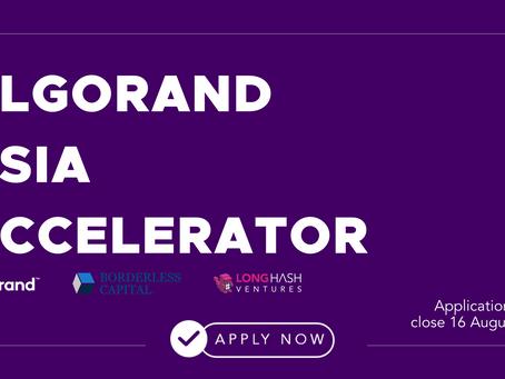 アルゴランド財団とBorderless CapitalがLongHash Venturesの支援の下でAlgorand Asia Acceleratorを開始