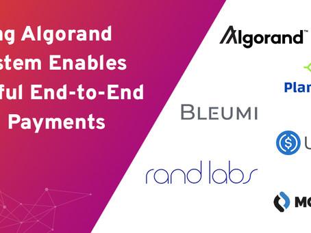 アルゴランドによるエンド・ツー・エンドのデジタル決済、成長するエコシステム全体からの参加者を集めて開始