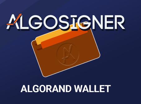アルゴランド初のウォレット拡張機能「AlgoSigner」が利用可能に