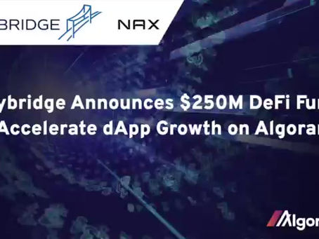 SkyBridgeとNAX、アルゴランド上の分散型アプリケーションの成長を加速させる画期的なパートナーシップを発表