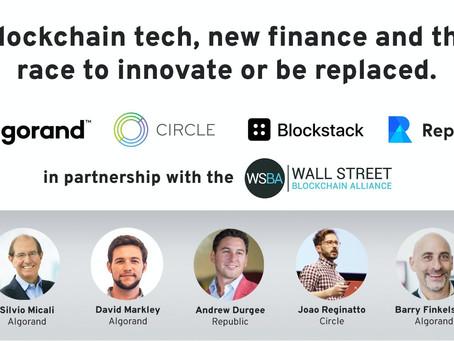 ブロックチェーン技術、新しいファイナンス、そして「革新か、取って代わられるか」の競争
