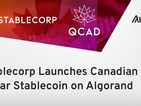 Stablecorp(ステーブルコープ)、アルゴランド・ブロックチェーン上でQCADステーブルコインを提供開始