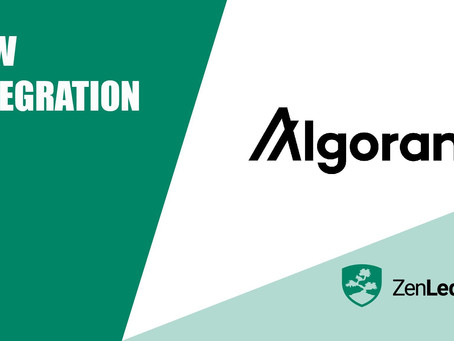 アルゴランドとZenLedgerのパートナーシップを発表