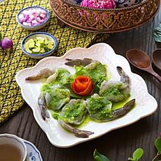 กุ้งแช่น้ำปลา วาซาบิ