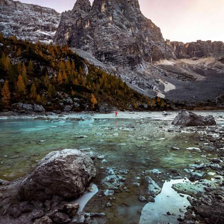 Hiking to Lago di Sorapis