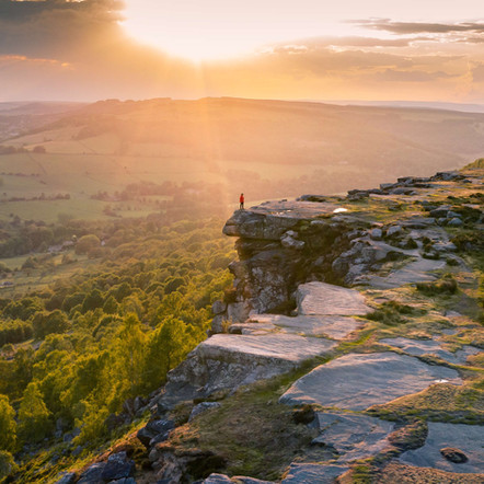 Photographing Curbar Edge in the Peak District