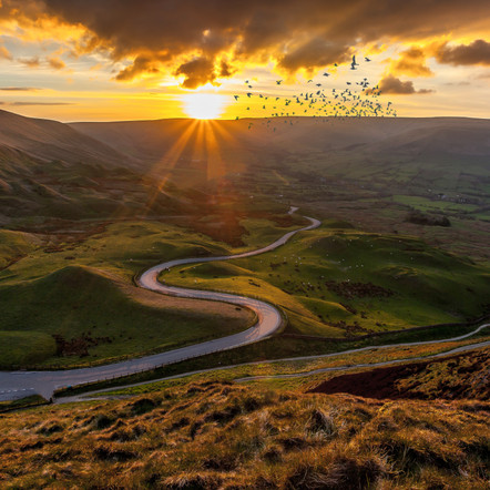 Photographing Mam Tor