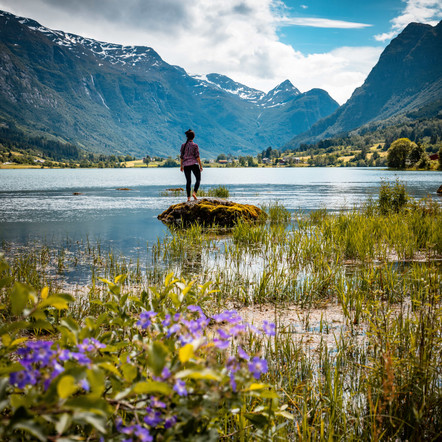 Sailing into Olden, Norway. Photo Heaven.
