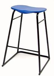 PS22 CARE Stool, Blue Seat Black Frame