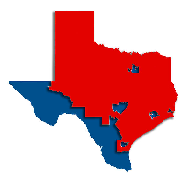 Texas Partisan Makeup_Districts raised c