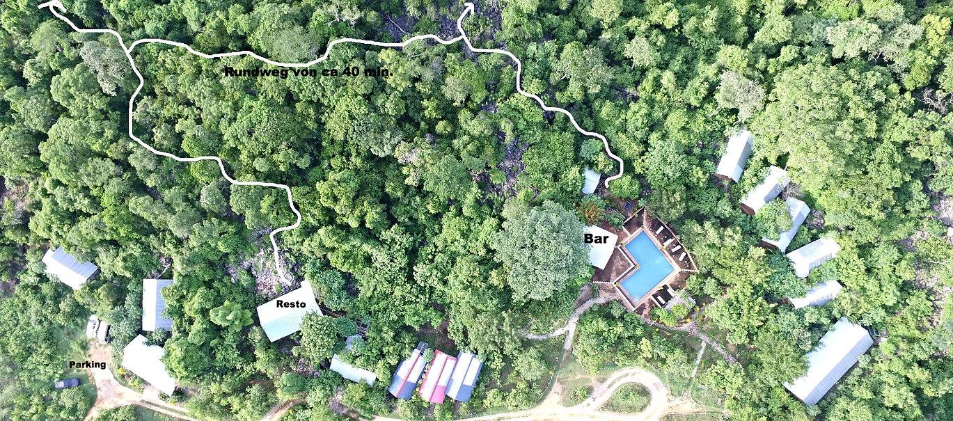 Ankarana Lodga aus Luftperspektive